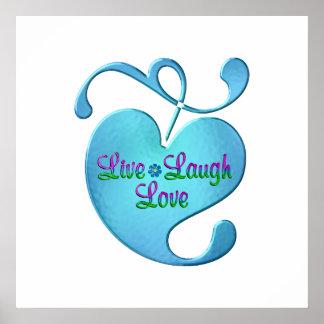 Poster Vivent coeur d'amour de rire le joli