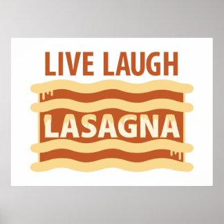 Poster Vivent le lasagne de rire