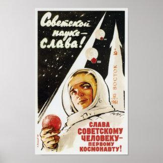 Poster Vivent longtemps l'homme soviétique - le premier
