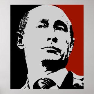 Poster Vladimir Poutine rouge