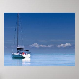 Poster Voilier sur les mers calmes