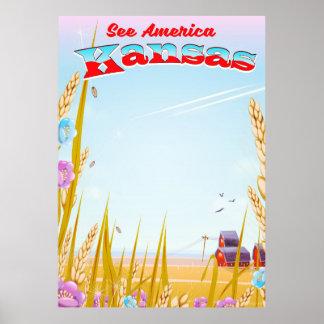 Poster Voir l'Amérique ! - Le Kansas