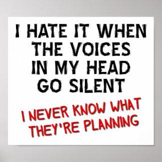 Poster Voix en mon affiche drôle principale