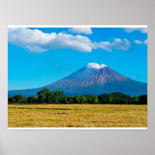 Poster Volcan San Cristobal, Nicaragua