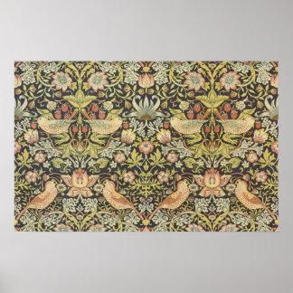 Poster Voleurs de fraise par William Morris, textiles
