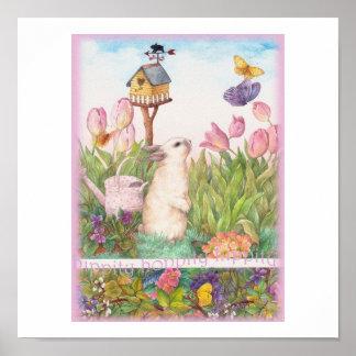 Poster Volière de lapin de Hippity Hoppity Pâques