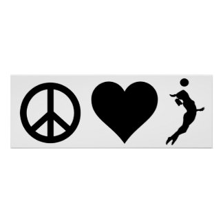 Poster Volleyball d'amour de paix (femelle)