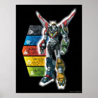 Poster Voltron | Voltron et pilotes graphiques