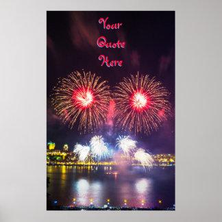 Poster Vos de la citation feux d'artifice ici | Québec