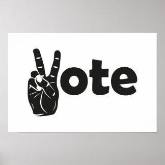 Poster Vote d'illustration pour la paix