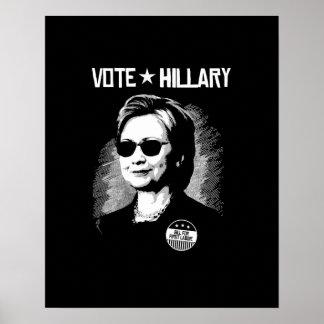 Poster Vote Hillary - Bill pour le premier gars --