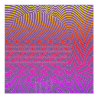 Poster Votre couleur avec des vagues d'art op