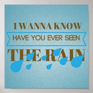 Poster Vous avez jamais vus l'affiche Artsy de pluie