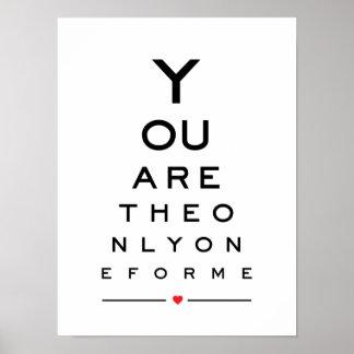 Poster Vous êtes les seuls pour moi diagramme d'oeil