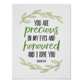 Poster Vous êtes précieux dans mes yeux - 43:4 d'Isaïe