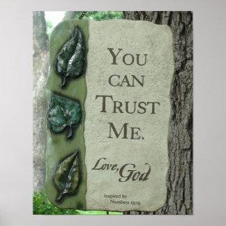 Poster Vous pouvez me faire confiance, Dieu d'amour,