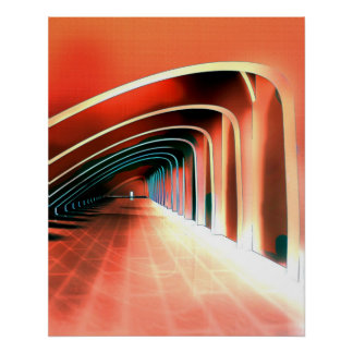 Poster Voûtes abstraites