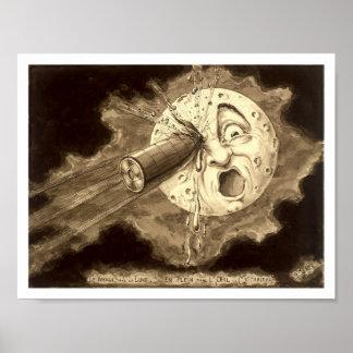 Poster Voyage à l'illustration 1902 de lune