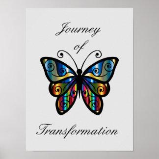 """Poster """"Voyage affiche de transformation"""""""