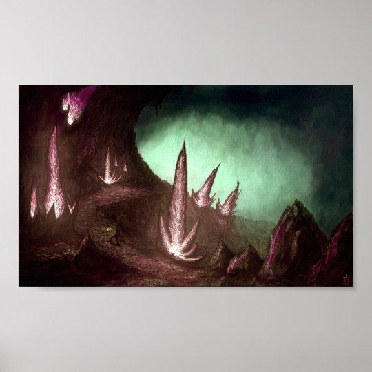 Poster Voyage au centre de la terre, d'étrange lueurs...