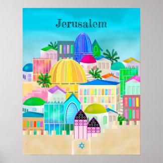 Poster Voyage de Jérusalem Israël