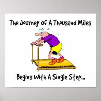 Poster Voyage de mille milles - motivation d'exercice