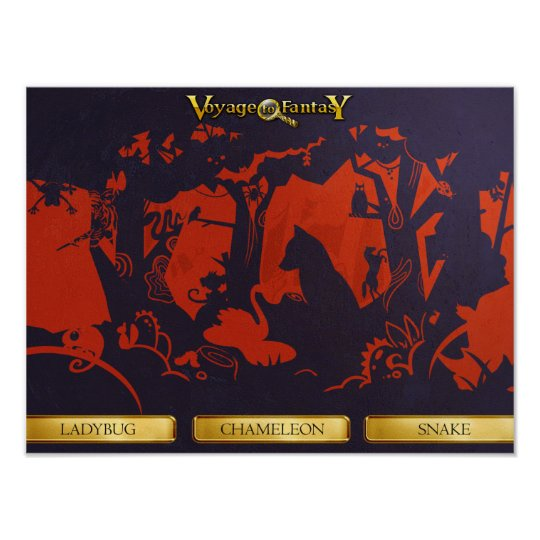 Poster Voyage to Fantasy - Shadow Theatre, Forest