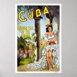 Poster Voyage vintage, Cuba