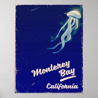 Poster Voyage vintage de gelée de la Californie de baie