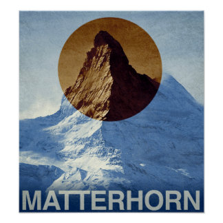 Poster Voyage vintage de Matterhorn Suisse