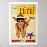 Poster Voyage vintage de Miami la Floride