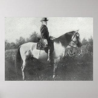 Poster Voyageur d'équitation du Général Lee