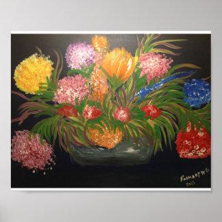 Poster Voyez The Sun dans la paume du sépale d'une fleur