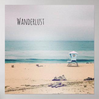 Poster Vraie photo de plage de Cali - envie de voyager