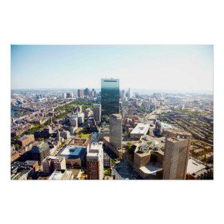 Poster Vue aérienne de Boston 2