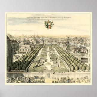 Poster Vue aérienne de jardin formel par Éric Dahlbergh