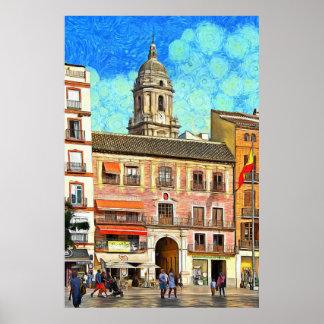 Poster Vue de la cathédrale du carré de constitution