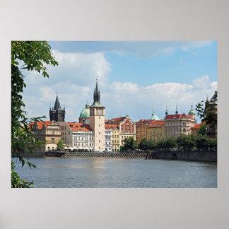Poster Vue de la partie historique de Prague