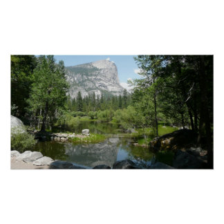 Poster Vue de lac mirror en parc national de Yosemite