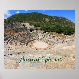 Poster Vue de l'amphithéâtre antique dans l'Ephesus-dinde