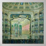 Poster Vue de l'étape de l'opéra de Paris
