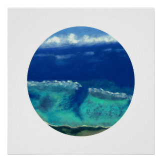 Poster Vue de mer de l'Okinawa (cercle de zen)