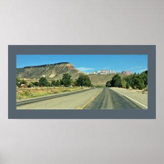 Poster Vue de route de montagne