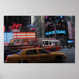 Poster Vue de rue de Times Square