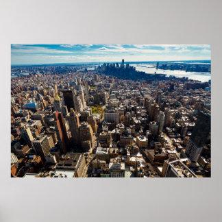Poster Vue de ville de NYC de l'Empire State Building 2