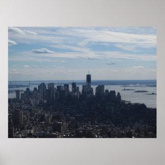 Poster Vue de ville de NYC de l'Empire State Building 3