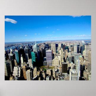 Poster Vue de ville de NYC d'Empire State Building