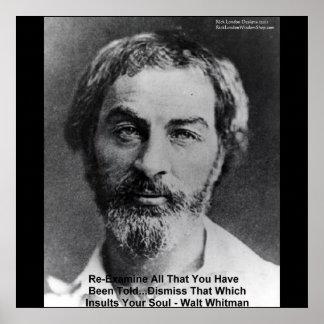 """Poster Walt Whitman """"insulte affiches de sagesse de"""