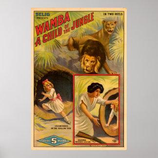 Poster Wamba - un enfant du film de Selig de jungle