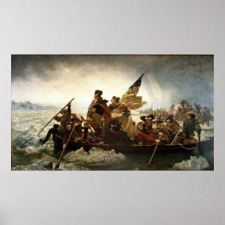 Poster Washington croisant le Delaware par Emanuel Leutze
